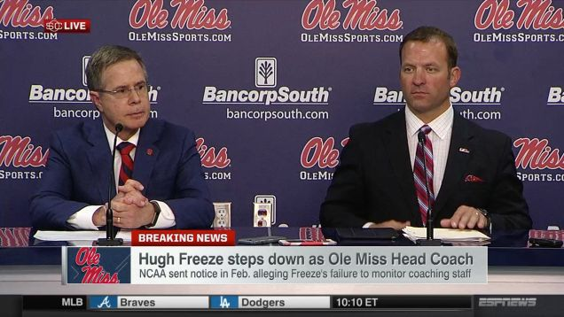 Ole Miss Brass Solemnly Discuss Possible Hugh Freeze Sex Stuff At Bizarre Presser