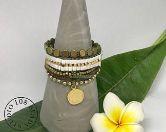 Gold and Green Bracelet, Gemstone bracelet, Gold Coin Bracelet, Gold Hematite bracelets, Coin jewelry, Pendant bracelet, Layering Bracelet - Edit Listing - Etsy