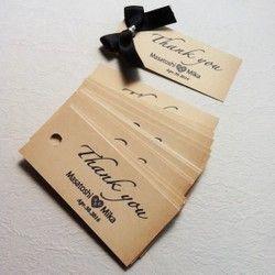 アンティーク サンキュータグ#ウェディング Wedding Thank you Tag