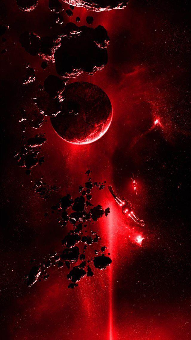 Rotes Licht aus dem Weltraum iPhone 8 Wallpaper   – Wallpaper Iphone  # # – Tanja Molter