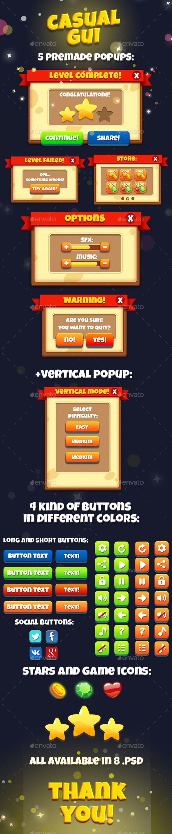 Casual Game Interface Kit | Download http://graphicriver.net/item/casual-game-interface-kit-/13629189?ref=sinzo