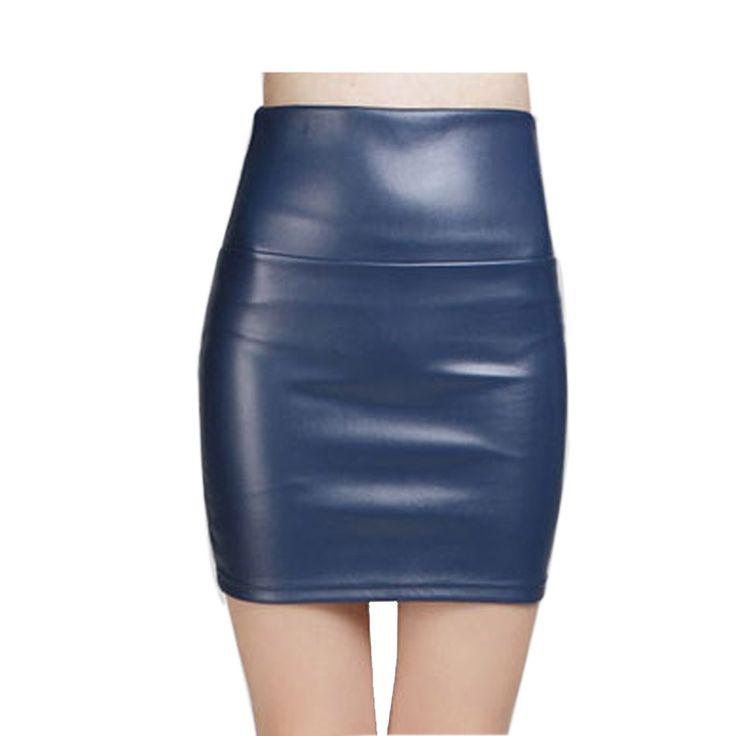 Günstige 2016 neue mode Frauen faux pu leder rock hohe taille partei kleidung weiblichen kurzen bleistift frau röcke saias femininas, Kaufe Qualität Röcke direkt vom China-Lieferanten: dies ist Asiatische größe, ignorieren sie bitte den tag, nicht wählen sie einfach durch S/M/L, einen blick auf die deta