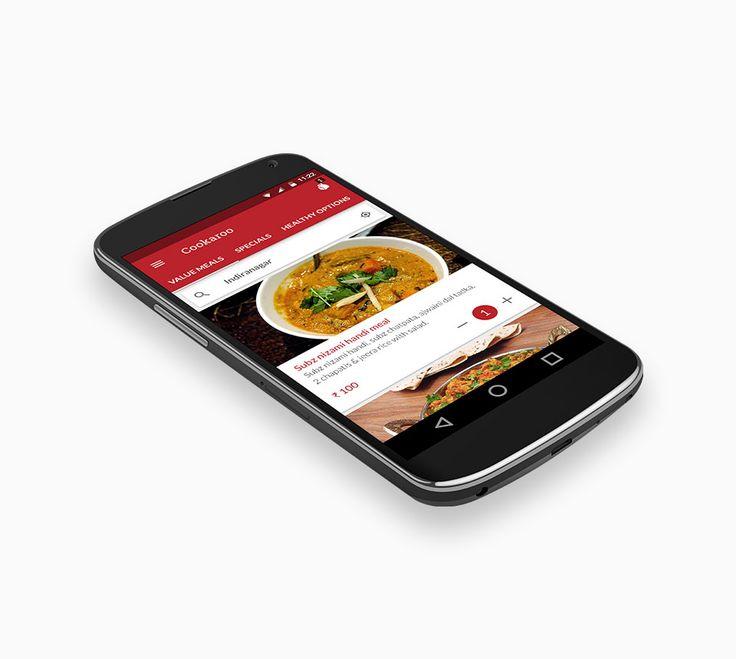 Cookaroo Andriod App. Restaurant App Development | CognitiveClouds Portfolio