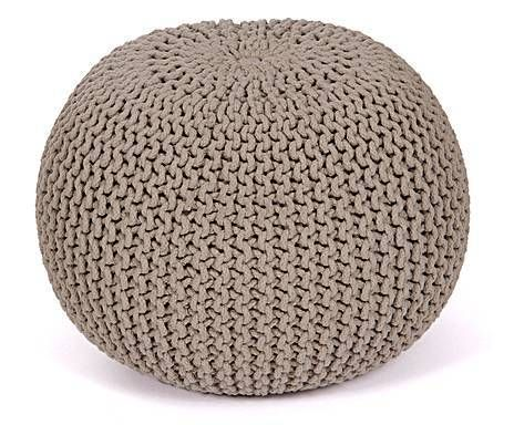 pouf sita coton et billes de polystyr ne taupe 50 par jill jim designs 59 notre prix. Black Bedroom Furniture Sets. Home Design Ideas