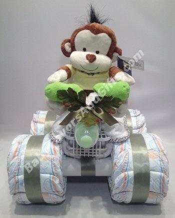 Safari All-terrain Vehicle Diaper Cake -