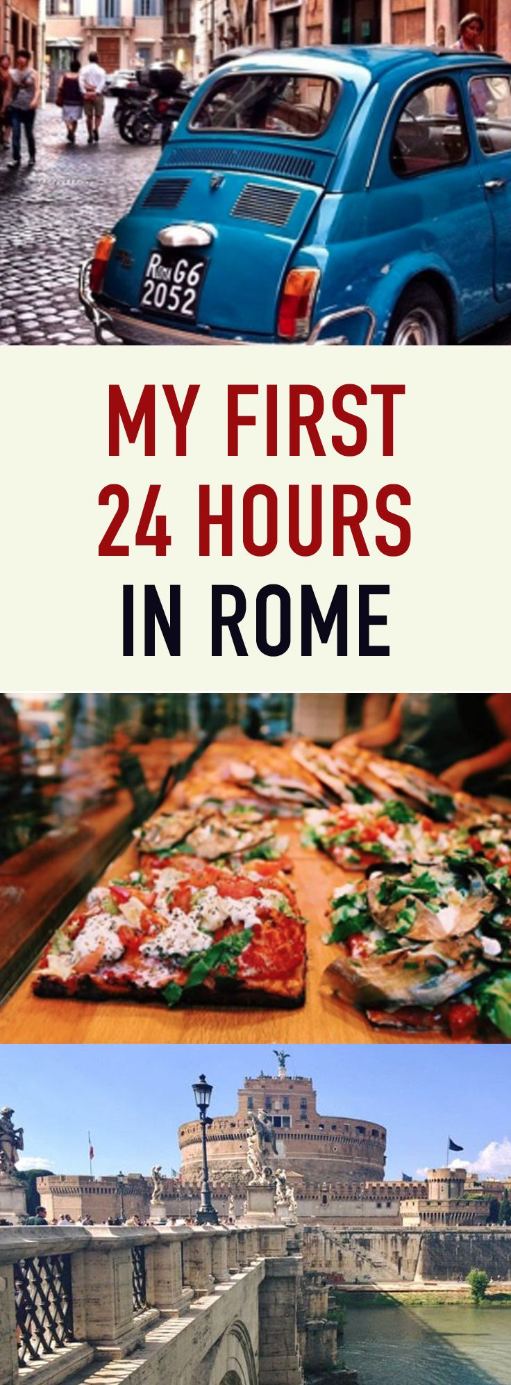My first 24 hours in Rome. Pizza, traffic, heat and getting lost!