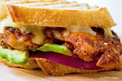 Red Chile Chicken Panini! When Chicken burger and club sandwich meet ...