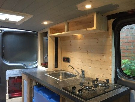 For Transit Van Conversion Kitchen Just Needs Finishing Touches
