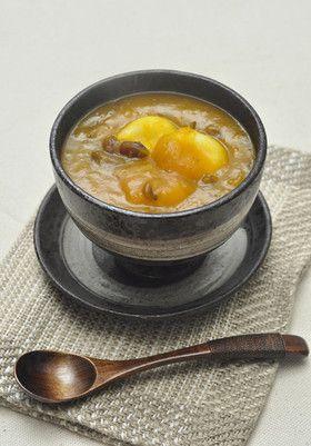 韓国料理ーカボチャぜんざい:ホバクジュク