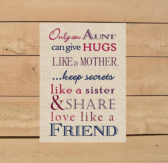 Christmas Gift Ideas For Aunts Part - 23: Aunt Gift. Only And Aunt Can Give Hugs Like A Mother Print. DIY Instant