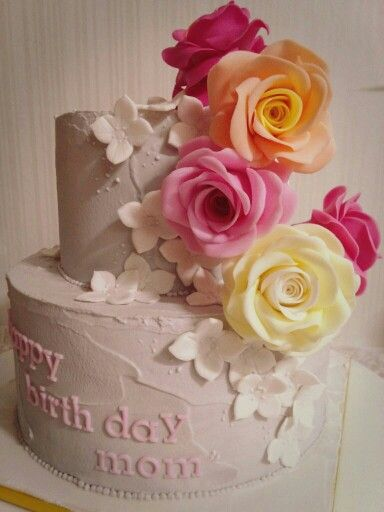 rose wedding sugar cake [COMMA'CAKE]