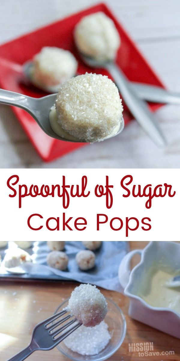 Don't you know that a spoonful of sugar makes the medicine go down? And these Mary Poppins inspired Spoonful of Sugar cake pops go down in the most delightful way too! Whip up a batch of this sweet treat dessert and watch the classic Disney Mary Poppins movie in preparation of the sequel coming in 2018!  #MaryPoppins #MaryPoppinsReturns #DisneySide #Disney #cakepops #partyfood