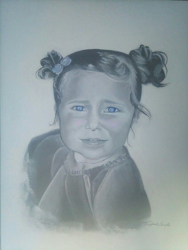 Portrait to Arianna (acrylic on canvas, 40x50cm) - Ritratto ad Arianna (colori acrilici su tela, 40x59cm)