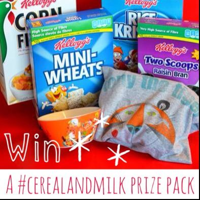 Start the day off with #CerealandMilk! WIN a Kellogg's prize pack on www.MyBabyStuff.ca. 08/01.
