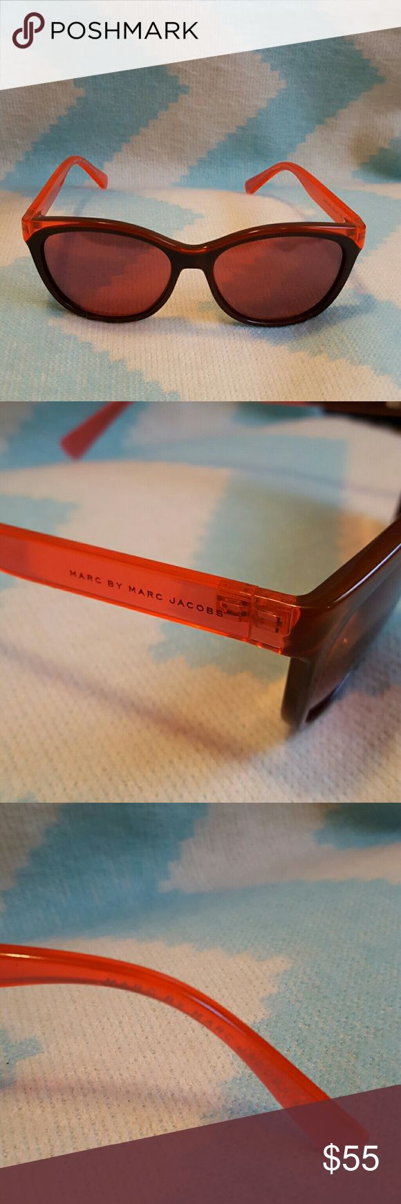 Marc by Marc Jacobs sunglasses Pre loved Marc Jacobs sunglasess. Perfect for completing a designer look. Sunglasses have a little scratch, barely noticeable as seen in last pic. Only seruous offers please these were very expensive as they are from the marc collection. Marc by Marc Jacobs Accessories Sunglasses