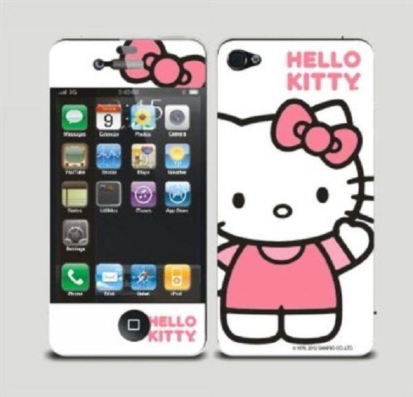 hello kitty sticker iphone: hello kitty sticker iphone