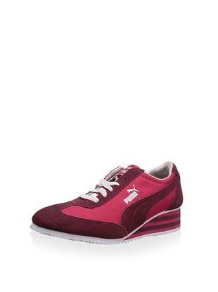 36% OFF PUMA Women's Caroline Stripe Wedge Sneaker (Virtual Pink)