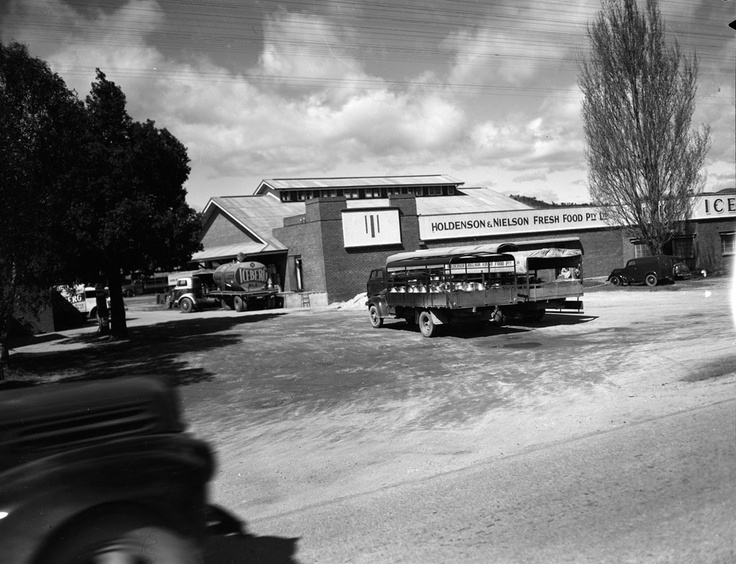 1952 Holdenson and Nielson butter factory Wodonga. VicRoads Centenary 1913 - 2013. www.vicroads.vic.gov.au/centenary