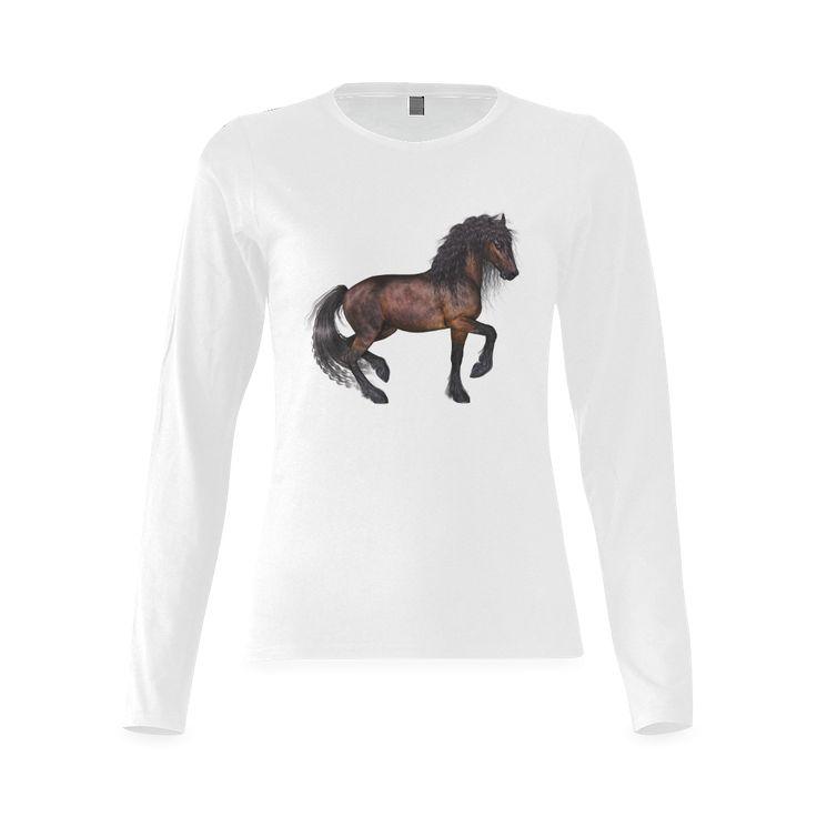 Steampunk Horse Gildan Women's T-shirt (long-sleeve)