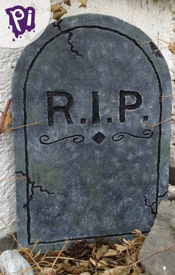 Pintaideas Fabrica tu lapida para Halloween, Make your Halloween tombstone....Manualidades, bricolaje, arts, crafts, handmade, DIY, hagalo usted mismo., tendencias en decoracion, Dia de muertos,