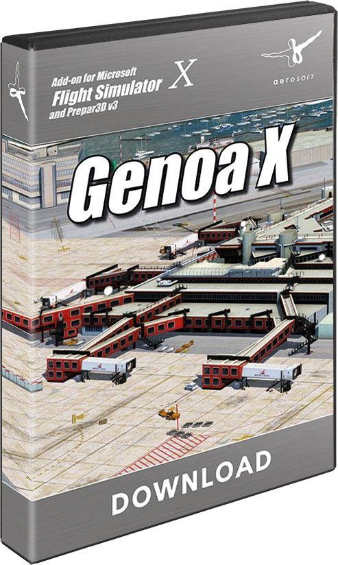 AEROSOFT : Genoa X Genoa X is a high end scenery of the famous
