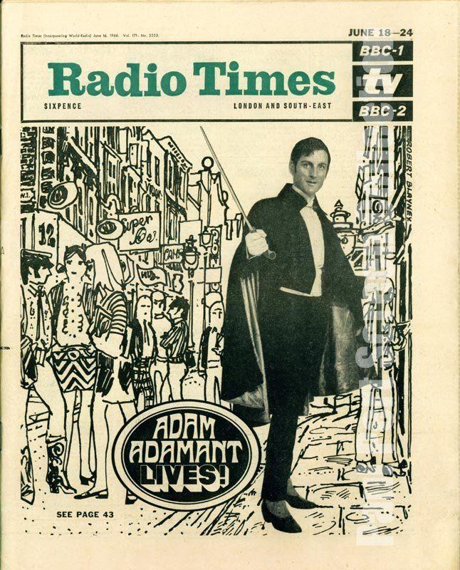RADIO TIMES 1966. Adam Adamant - Gerald Harper - The Paul Pert Screen Collection