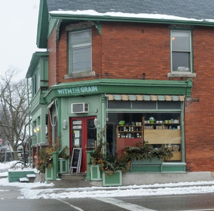 With the Grain Café, 294 Woolwich St., Guelph, 519-827-0008