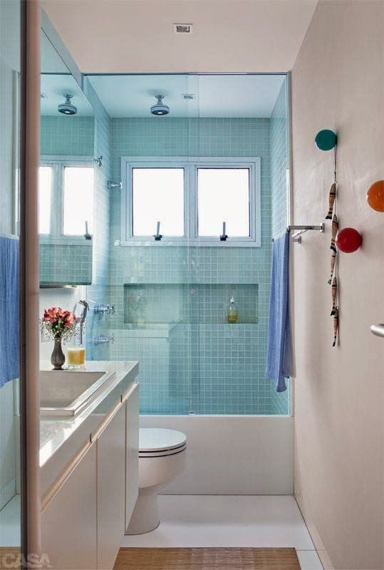 15+ melhores ideias sobre Banheiros Pequenos Com Pastilhas no Pinterest  Dec -> Banheiros Mais Simples