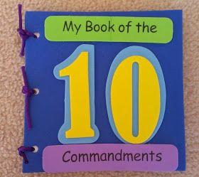 My Book of the Ten Commandments Craft Kit..make myself? one page for each commandment