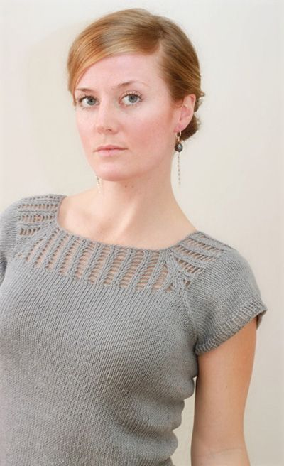 Gemini pullover: Knitty Spring+Summer 2012. Free pattern, can be worn back or front lace