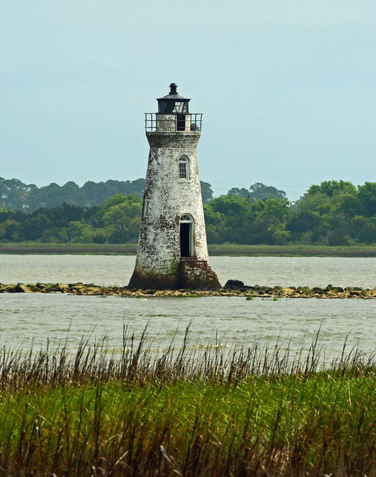 Cockspur Island Lighthouse - Fort Pulaski Ga