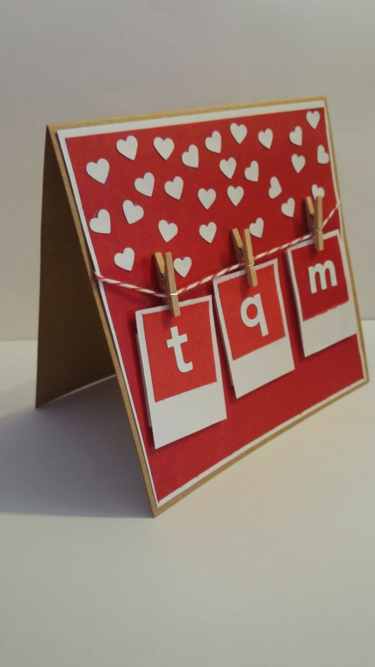 Tarjeta san valentin You see hearts everywhere? Easy, takes only 1 day for V-Day :). Live this day with # CreatividadProarte.