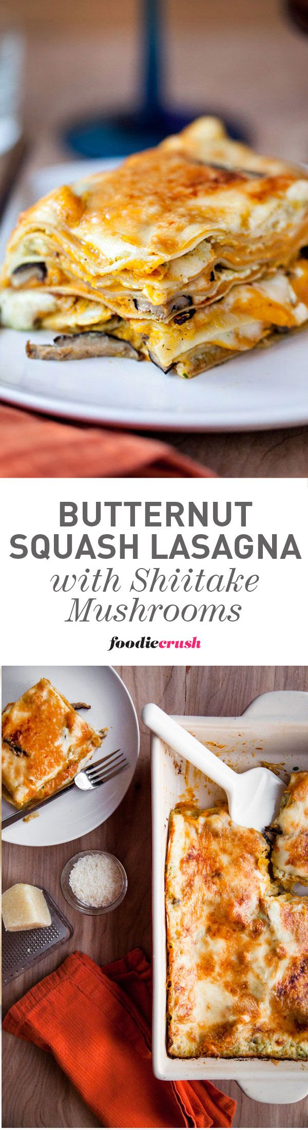 I make this butternut squash vegetarian lasagna every year for Christmas parties and everyone ALWAYS asks for the recipe | foodiecrush.com