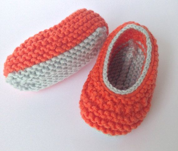 Orange Baby Ballet Pumps. Orange Baby Shoes with by NoahandNoo