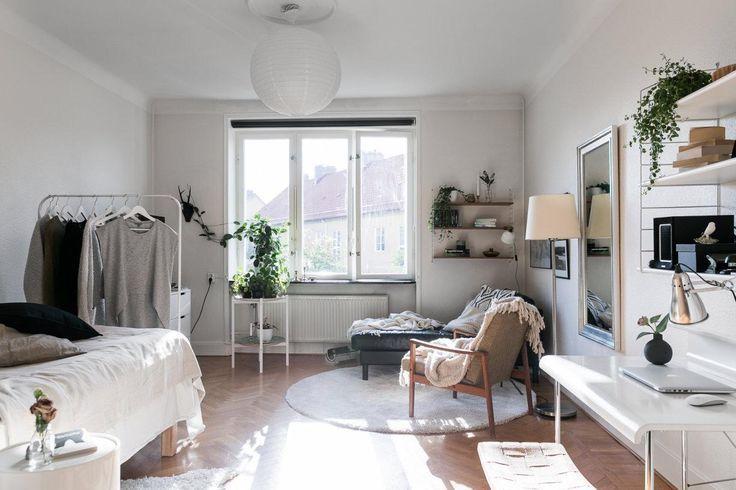 Feminine studio apartment – #Apartment #einrichtun…