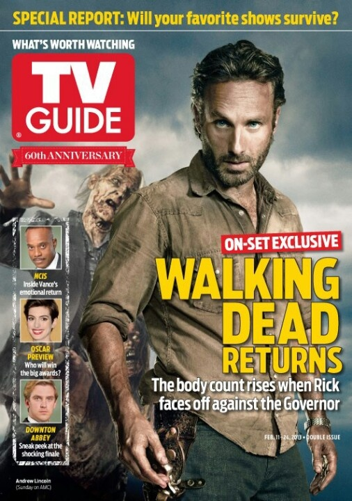 Walking dead on the cover of tv guide
