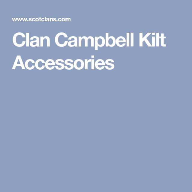 Clan Campbell Kilt Accessories