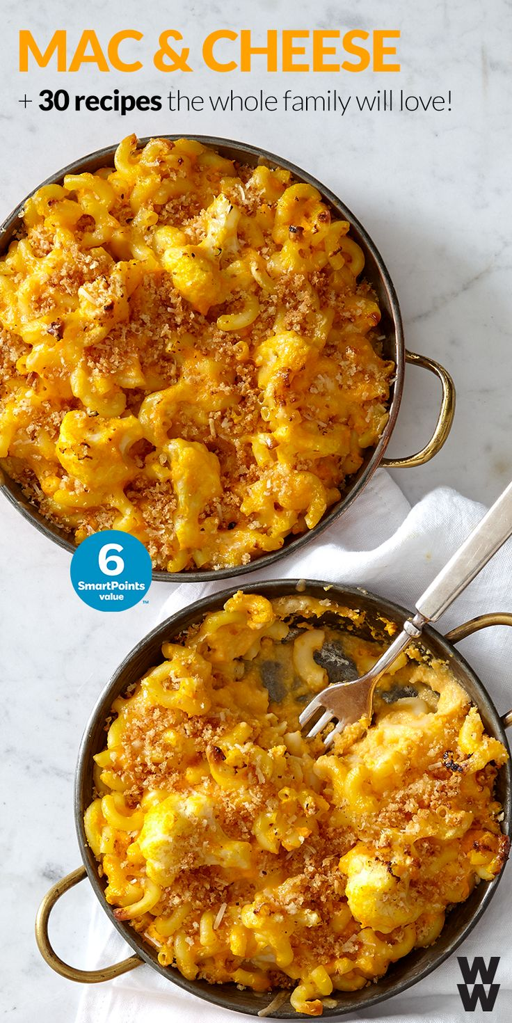 Mac n cheese, pizza & burgers: your kids go-to favorite foods can also be delicious SmartPoints friendly meal choices for you! Tap for 30 recipes that the whole family will love.