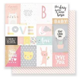 Little You My Sunshine - scrapbook papier 12x12 inch