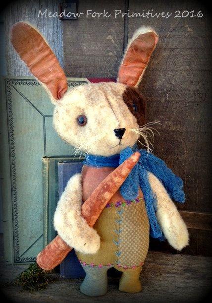 Primitive Art populaire Trotsaut lapinfeutre de par MeadowForkPrims                                                                                                                                                                                 Plus