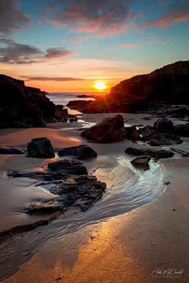 Newburgh Beach during Sunrise in Scotland.
