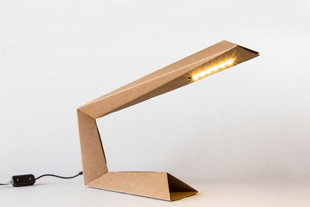 This cardboard LED lamp is part of an initiative by 4 Italian designers to encourage people participate in DIY projects.