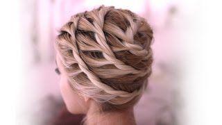 Greek goddess crown braid tutorial Twisted prom updo hairstyle Hochsteckfrisuren…