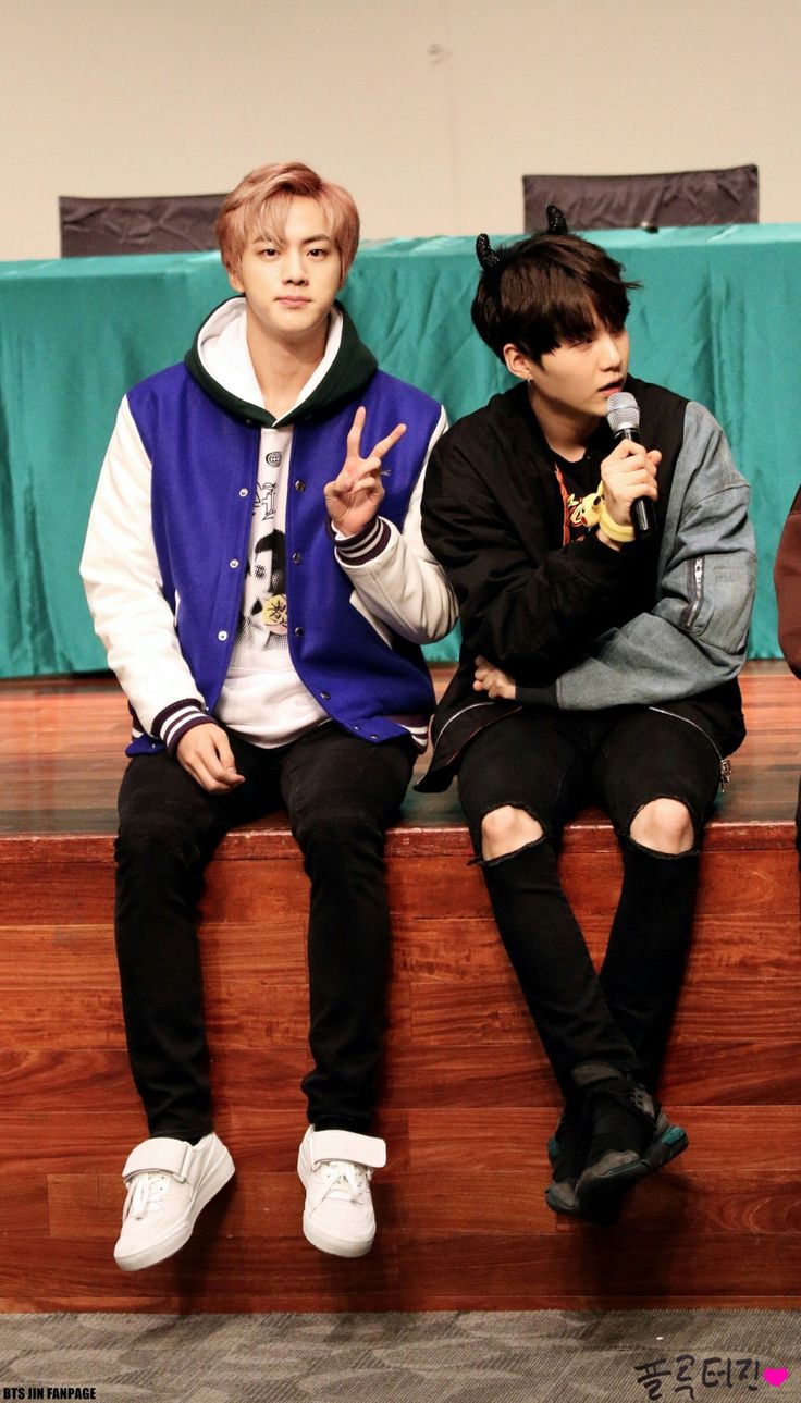 BTS is like a big question mark to me. I mean... Can you believe these two are the oldest ones in their group?