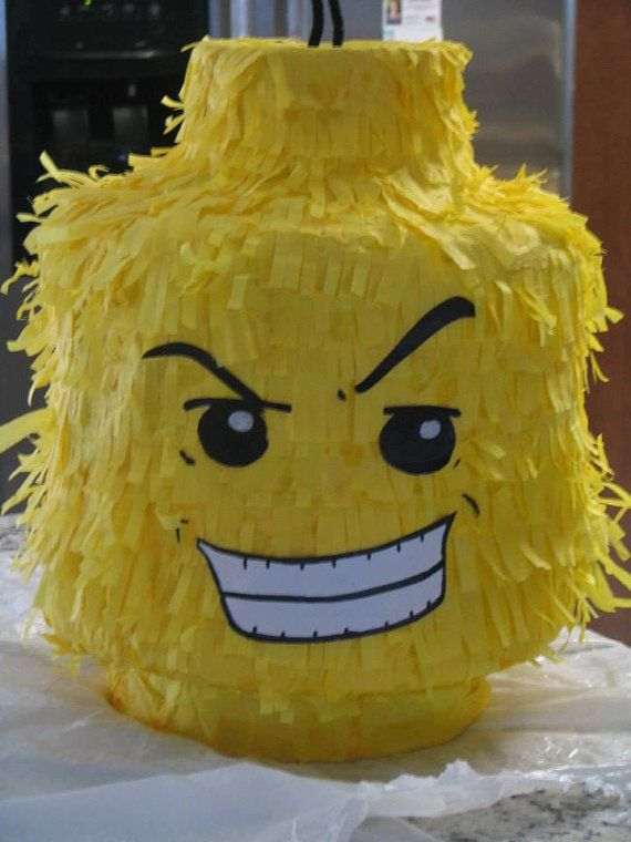 Lego Brick Head Piñata. Handmade. New by MOMSKITCHENBAKERY on Etsy