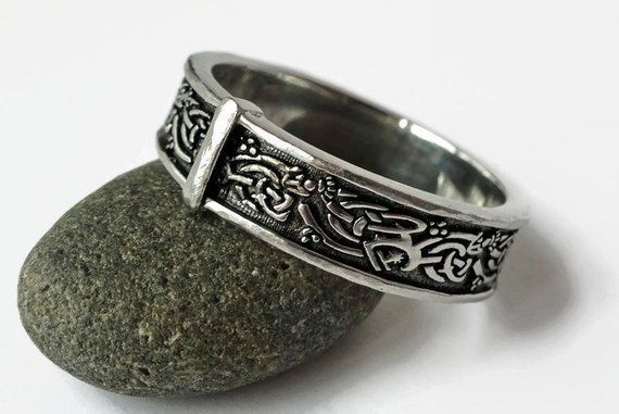 Outlander style Solid Sterling All sizes Original Thistle Band