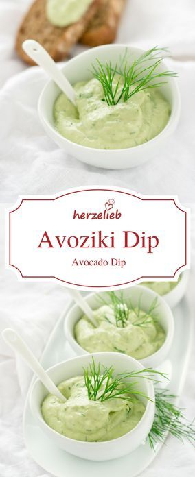 Avoziki - Avocado Tzatziki Rezept. Leckerer Dip zum Grillen und Dippen.