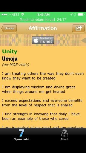 Venus Jones Kwanzaa iTunes App Unity