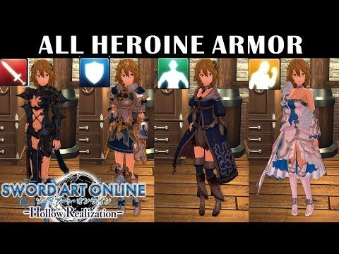 SAO: Hollow Realization All Heroine Armor | SAO(Sword Art Online