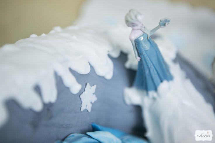 3d cake με θέμα την ταινία Frozen (Ψυχρά κι Ανάποδα)